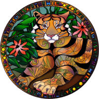 Save The Tigers - Endangered Species Window Sticker / Decal