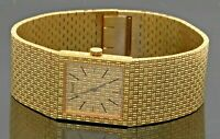 Piaget Polo 9131 vintage heavy 18K gold square dial men's mech. dinner watch