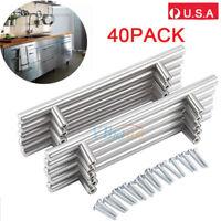 NEW 40pcs Kitchen Cabinet Door Handles Stainless Steel T Bar Drawer Pull Knob