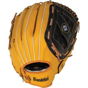 Franklin Adult Field Master Series 14-Inch Baseball Glove Yellow/Black
