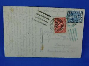 GUATEMALA 1926 POSTCARD IGLESIA DE LA CANDELARIAA ANTIGUA to GERMANY  [S12/48]