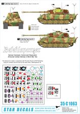échelle 1//35 35-955 Afrika Tigers #2 Star decals Initial Production Tiger I