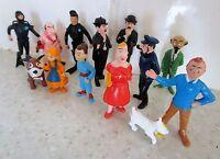 série complète  Esso-Belvision1973 de figurines Tintin-le lac aux requins .