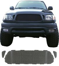 CCG GLOSS BLACK PERF SS PRECUT MESH GRILL SET FOR A 2001-04 TOYOTA TACOMA GRILLE