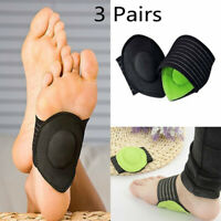 6×Heel Foot Pain Relief Plantar Fasciitis Insole Pads Arch Support Shoes Insert