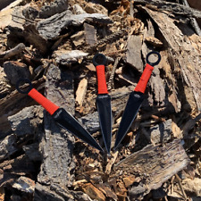 Red Drops 3 Piece Kunai Throwing Knives
