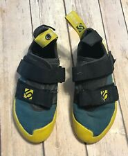 Adidas Five Ten 5.10 Gym Master Boys Climbing Shoes Size 2 Yellow Teal Stiff
