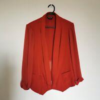 City Chic Size S Women's Blazer Orange Evening Wear