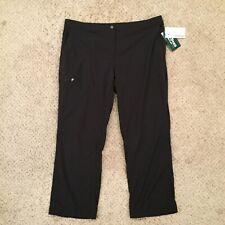 NWT LL Bean Comfort Trail Black Cargo Womens Size 18 Petite Pants