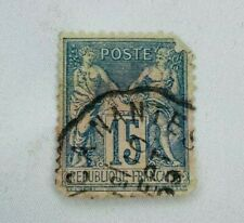 1877 France Stamp Timbre 15