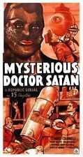 Misterioso Doctor Satanás Cartel 02 A2 Caja Lona Impresión