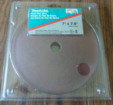 "MAKITA Resin Fiber Discs 7"" x 7/8"" ~120 Grit ~Package of 5 ~742091-A-5"