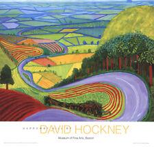David Hockney-Garrowby Hill-Poster