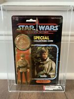 STAR WARS LUKE SKYWALKER PONCHO POTF AFA 85Y MOC KENNER VINTAGE 1985 ROTJ ENDOR