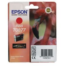 Epson t0877 tinta red rojo para Stylus Photo r1900 c13t08774010 OVP