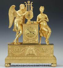 Choiselat-Gallien & Lesieur à Paris Gr Empire Bronze Pendule 1815 Armor & Psyche