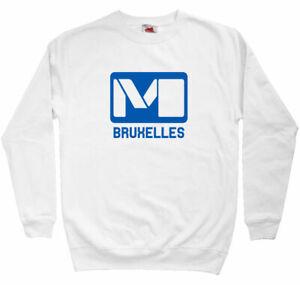 Brussels Metro Sweatshirt - Train Subway Transit Rail BE Crewneck - Men S to 3XL