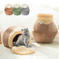 Winter Warm Dog Puppy Pet Cat Bed House Sofa Kennel Igloo/Cave Nesting Bed Mat