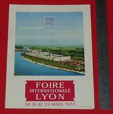 1955 INVITATION FOIRE INTERNATIONALE DE LYON 69 RHONE / POMPES GUINARD