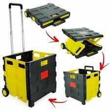 Pliant Chariot 25 kg Pliant Shopping Boot panier boîte de rangement de roues Cra...