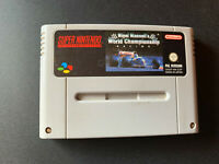 Nigel Mansell's World Championship SNES Super Nintendo PAL ESPAÑOL