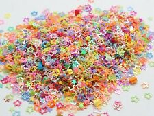 50Gram Mixed Color Hollow Flower Sequins Loose Tiny Tips 4mm Nail Art