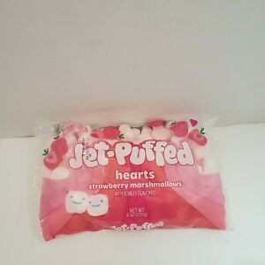 Jet-Puffed Valentines Heart Strawberry Marshmallows, 8 oz Bag, Free Shipping
