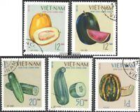 Vietnam 618-622 (kompl.Ausg.) gestempelt 1970 Einheimische Früchte - Melonen