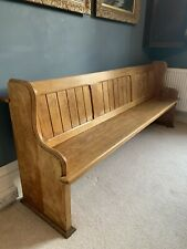 More details for solid oak church pew