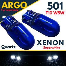 2x W5W 501 Sidelight 5w Xenon Super White HID Side Light Parking Lamp Bulbs 12v