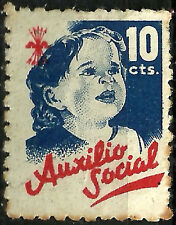 SELLO DE AUXILIO SOCIAL (FALANGE). 10 CÉNTIMOS