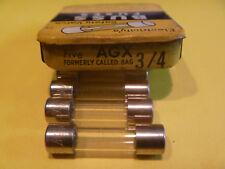 BUSS AGX 3/4 amp 125 Volt GLASS FUSE  8AG