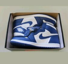 Nike Air Jordan 1 Retro High OG White Storm Blue 555088-127 Size 15
