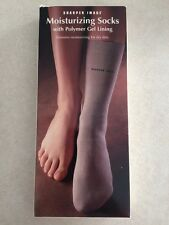 New Sharper Image Moisturizing Socks With Polymer Gel Lining For Dry Skin GE600