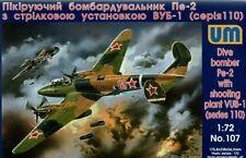 Unimodel 1/72 Petlyakov Pe-2 series 110 w/ VUB-1 # 107