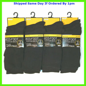 3 NEW PAIRS MEN'S BIGFOOT SUPERSIZE EVERYDAY SOCKS SIZE 11-14 SMART CASUAL