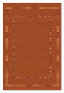 Terracotta Rust Premium Quality Tribal Gabbeh Style 100% Wool Area & Hearth Rugs