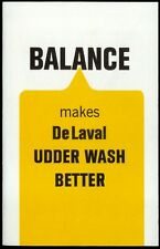 Super Rare Vintage 1967 De Laval Dairy Milking Machine Brochure Udder Wash