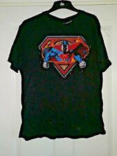 DC COMICS BLACK ' SUPERMAN ' T-SHIRT - Size Large