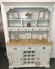 Farmhouse Welsh Dresser Traditional French Kitchen Unit with Wine Rack NEW