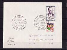 ec61/ Enveloppe   institut Néerlandais  l'art du timbre  Paris     1961