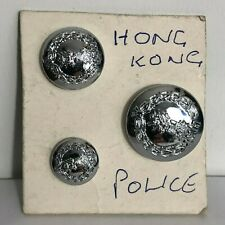 Obsolete Hong Kong Special Administrative Region Police buttons various sizes