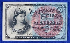 1869- #1261 4th Issue Fractional Currency 10c Banknote