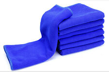 6PCS Blue Absorbent Wash Cloth Car Auto Care Microfiber Cleaning Towels