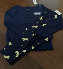 Girls lot of 2 Justice  Blue Shirt/ leggings NEW Size:12