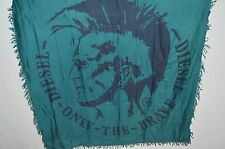 DIESEL Man's SMIKAEL Viscosa Brave Indian Head Logo Scarf  NEW Size 47in x 50in
