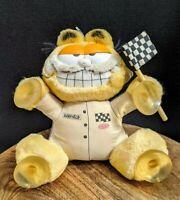 "Vtg Retro 1981 Garfield 'Speed Demon' Racer Hang On Plush 20 cm 8"" Collectable"