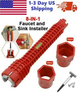 Faucet and Sink Installer Multi tool Pipe Wrench For Plumbers and Homeowners USA