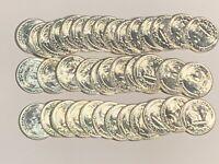 1945-D GEM BU ROLL (40 COINS)WASHINGTON SILVER QUARTER ORIGINAL BLAZING RARE