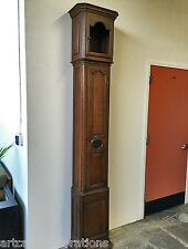 Tall Antique Grandfather clock case made from Oak, Circa: 1860.